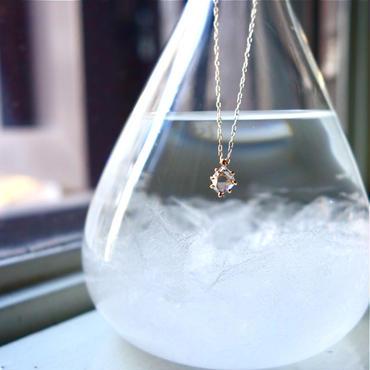 ハーキマーダイヤモンドネックレス(S) K18YG