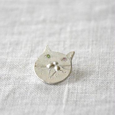 Anima uni ピンブローチ 『くれるんですか!?』 ピンクサファイヤ グリーンガーネット silver