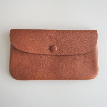 Ohama オイルレザーの長財布 コニャック