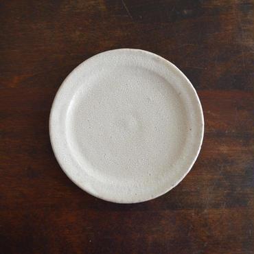 坪井俊憲 ひび粉引き 四寸リム皿