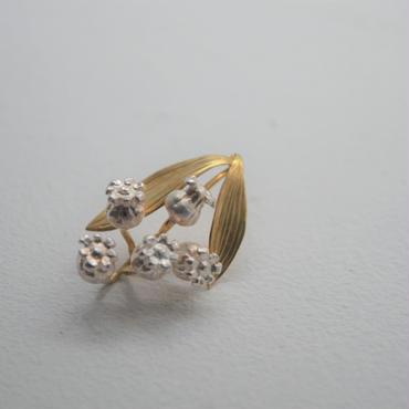 OLD TO NEW ピアス すずらん k18/純銀