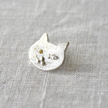 Anima uni ピンブローチ『我魚思う、ゆえに我在り』カラーサファイヤ silver