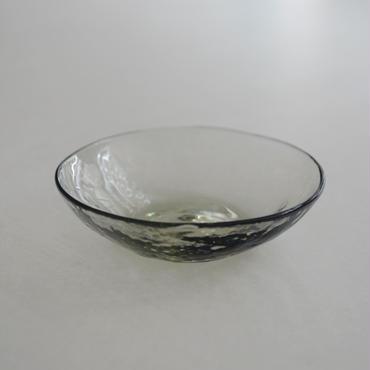 津田清和 豆皿 深緑