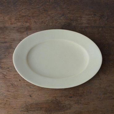 Awabi ware オーバル皿 S アイボリー