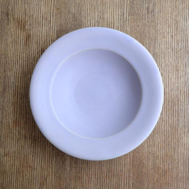 Awabi ware リムスープ皿 パープル