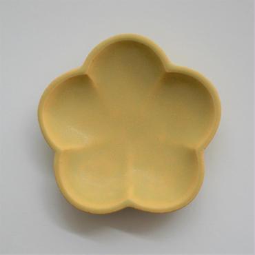 Awabi ware 花型豆皿 黄色