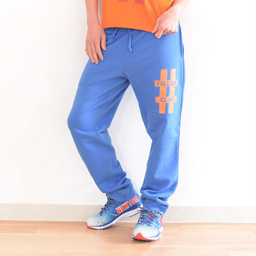 "CLAP ""FOLLOW CLAP""Sweat Pants Msize BLUE"
