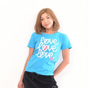 CLAP LOVE x3 Tee Msize 2色