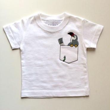PARROT LADYS/MENSTシャツ White