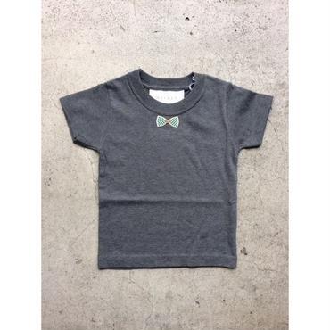 RIBON GREENCHECK TシャツGLAY LADYS/MENS