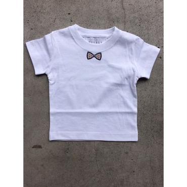 BLUEGRAY RIBON  TシャツWHITE LADYS/MENS