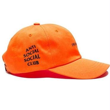 数量限定! Anti Social Social Club(アンチソーシャルソーシャルクラブ) キャップユニセックス帽子//並行輸入品 (調整可能,オレンジ )