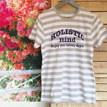 ホリスティックマインドTシャツ/ボーダー