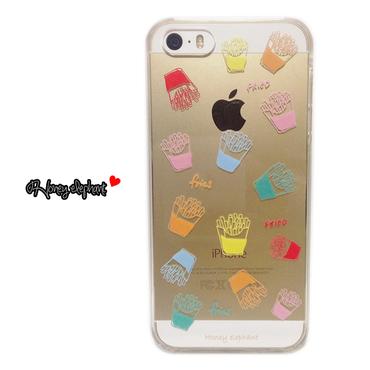 【iPhoneSE/5s/5/6s/6】フライポテト マルチカラー