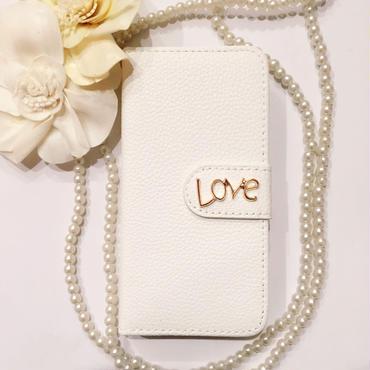 再入荷【iPhone6s/6】LOVE ダイアリー ホワイト