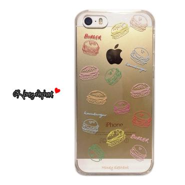 【iPhoneSE/5s/5/6s/6】ハンバーガー マルチカラー