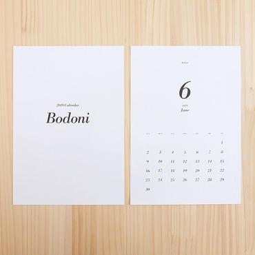 美しいフォントで綴るカレンダー2019[Bodoni]