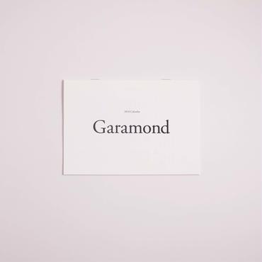 美しいフォントで綴るカレンダー2018[Garamond]