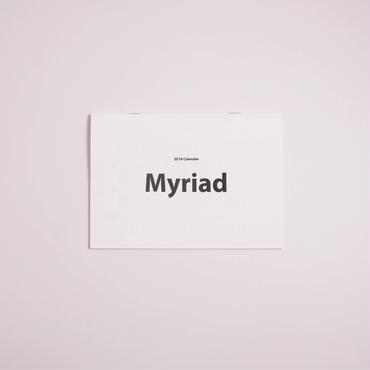 美しいフォントで綴るカレンダー2018[Myriad]