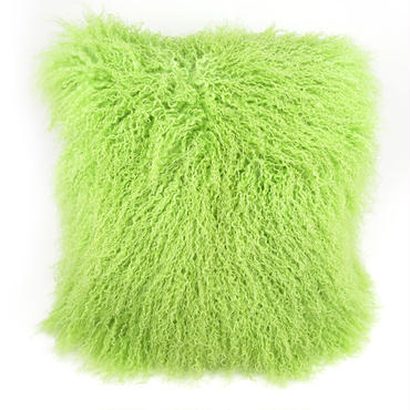 Bright Green Tibet Lamb Cushion Cover 45×45