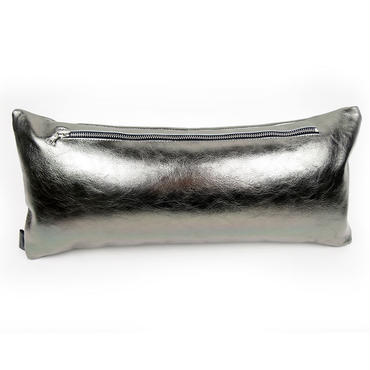 Metal Leather Cushion riri zipper 45×20