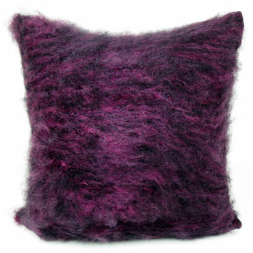 BALMUIR Aubergine Kid Mohair Cushion Cover 50×50