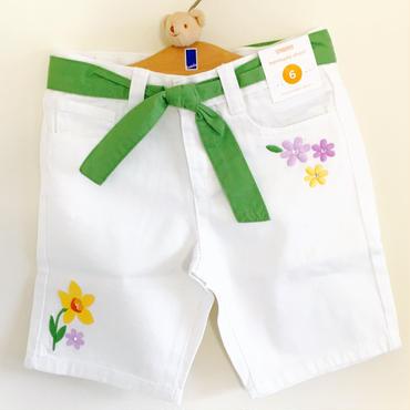 HappyFroggyレアコレクション Gymboree 水仙柄刺繍ズボン6T