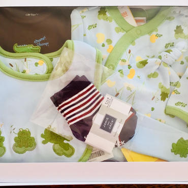 〈オススメ ご出産祝い〉 カエルさんオール5点セット 新生児サイズから0-3ヶ月