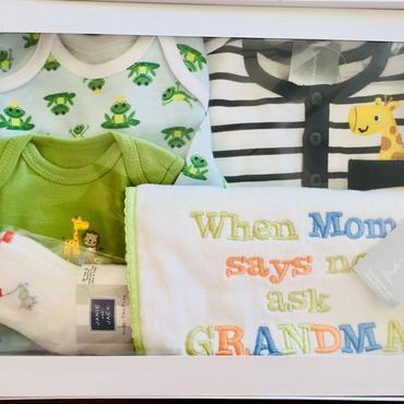 〈オススメ ご出産祝い男の子5点セット〉新生児サイズから0-3ヶ月