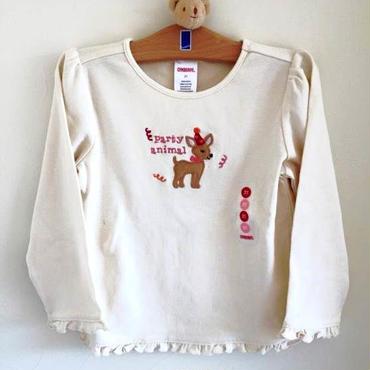<訳あり> 小鹿の長そでシャツ 3T