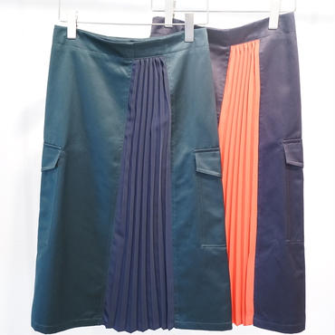 CINOH WOMEN 18SSK001 PLEATS BIG POKET SK/チノプリーツポケットスカート