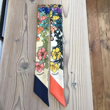 manipuri silk scarf flower 5×85