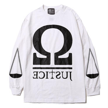 HYPOCRITE x SILLENT FROM ME ( BALANCE -Long Sleeve Tee)  WHITE