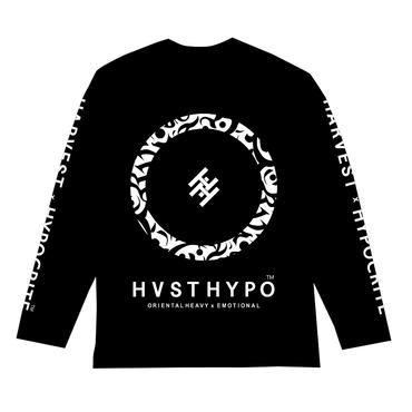HARVEST x HYPOCRITE 【HVSTHYPO】LONGSLEEVE TEE(BLK)