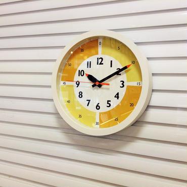 funpun clock with clolor ふんぷんクロック イエロー