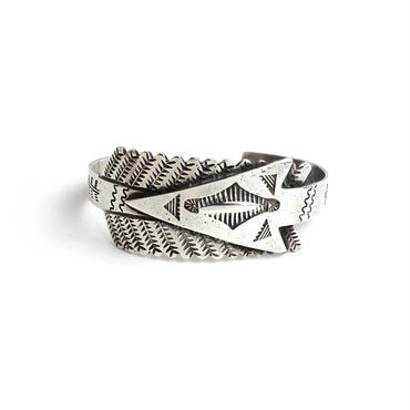 All Silver Arrow Bracelet / Fred Harvey Style