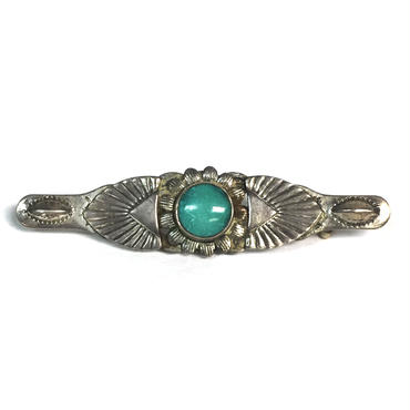 Turquoise Sun Rays Pin / Fred Harvey Style