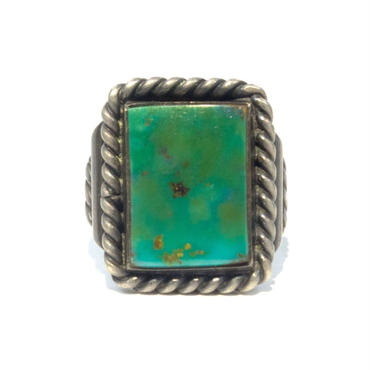 Square Green Turquoise Ring
