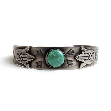Four Arrow Head Turquoise Squash Bracelet