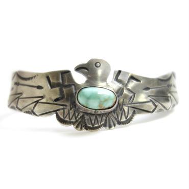 Thunderbird Cut Turquoise  Bracelet / Fred Harvey Style