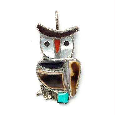 Inlay Owl Pendant