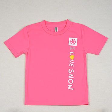 ドライキッズTシャツ (蛍光ピンク/サイズ120・130)
