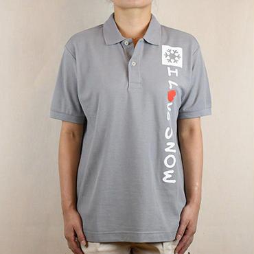 コットンポロ (グレー/サイズS・M・L・XL)