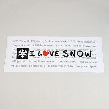 「I LOVE SNOW」フェイスタオル 限定版