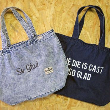 So Glad Denim Large Tote Bag