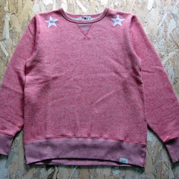 So Glad Star French Terry Sweat V・H・Red