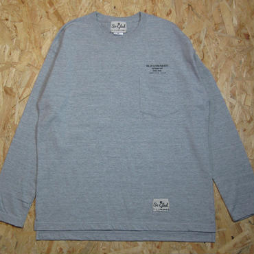 So Glad  L/S Pocket TEE Gray