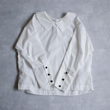 ドルマンスリーブ・フラットカラー・ブラウス/ホワイト(new color)