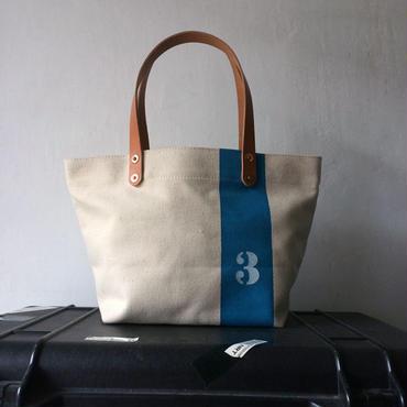 """ステンシル""""3""""入り古い日本製生成り帆布バッグIND_BNP_0209"""