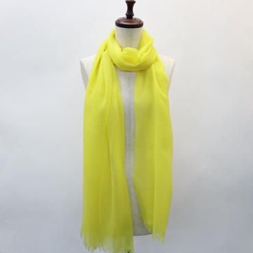 kashmir Loom  Cloud Matty    Lemon Yellow  70×200